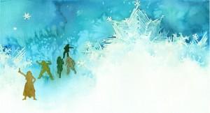 Lumikuningatar-kuvituskuva